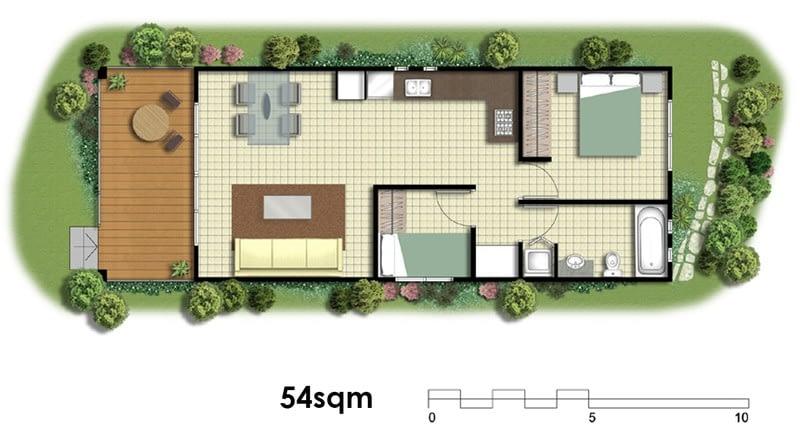 54sqm Plans